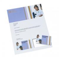 Carduri din hartie XEROX  PeelCard, 1/A4, alb mat