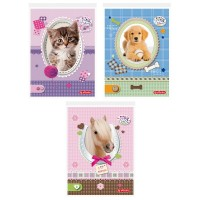 Bloc notes A6, 46 file matematica, Herlitz Pretty Pets