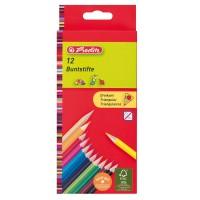Creioane colorate Herlitz 12 culori triunghiulare