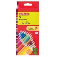 Creioane color Herlitz 24 culori triunghiulare