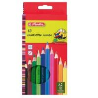 Creioane color Herlitz Jumbo 10 culori