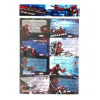 Etichete scolare 8 buc./set Pigna cu licenta - Spiderman