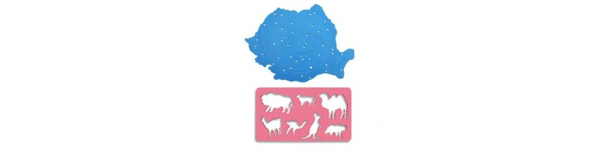 Sabloane harta, animale, litere